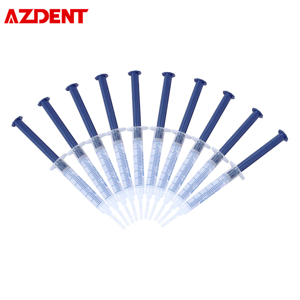 AZDENT Safe Home Use Teeth Whitening Gels Carbamide Peroxide Cold Light Lamp Tooth Whitener Gel Teeth Whitening Dental Whitener