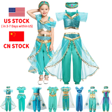 Girl Clothes Arabian Princess Dress Up Girl Aladdin Fancy Costumes Children Halloween Party Cosplay Outfits for Kids 2-10 Years