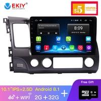 EKIY Android Car Multimedia Playe Car Radio Multimedia Video Player Navigation GPS For Honda Civic 2006 2011 No 2 Din Dvd Raido
