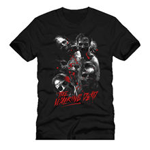 walking movie dead zombie blood mashup parody dtg mens t shirt tees