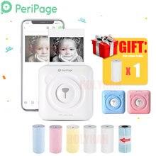 PeriPage נייד תרמית Bluetooth מדפסת מיני תמונה תמונות מדפסת עבור נייד אנדרואיד iOS טלפון 58mm כיס מכונת