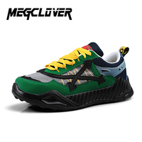 New Vulcanized Shoes Male Sneakers 2019 Fashion Spring Air Mesh Breathable Wedges Sneakers For Men Personality Green Scarpe Uomo