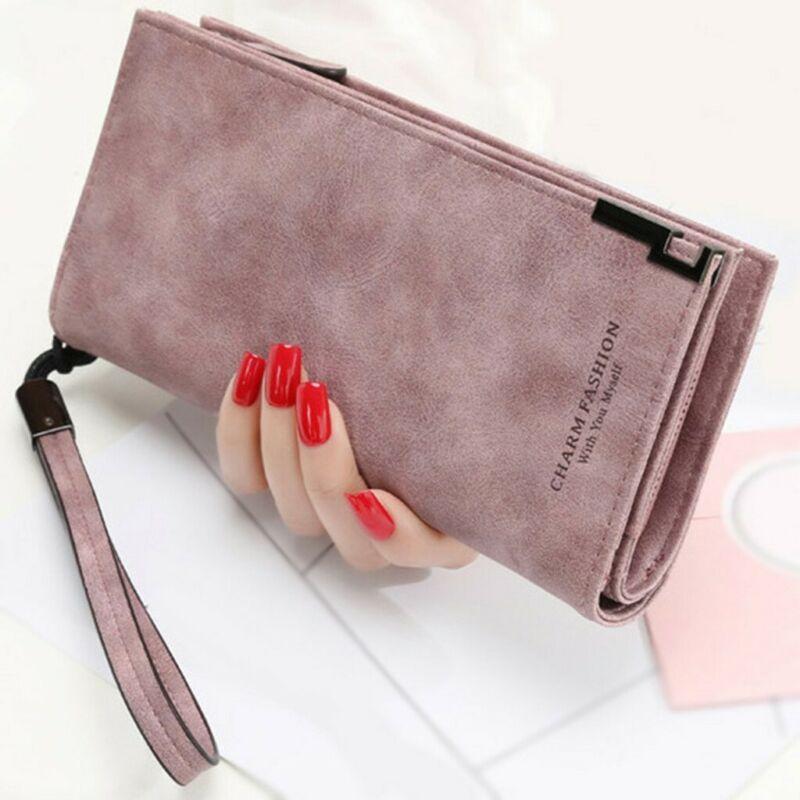 Women Leather Wallet Card Holder Clutch Coin Purse Phone Handbag Purse Bag