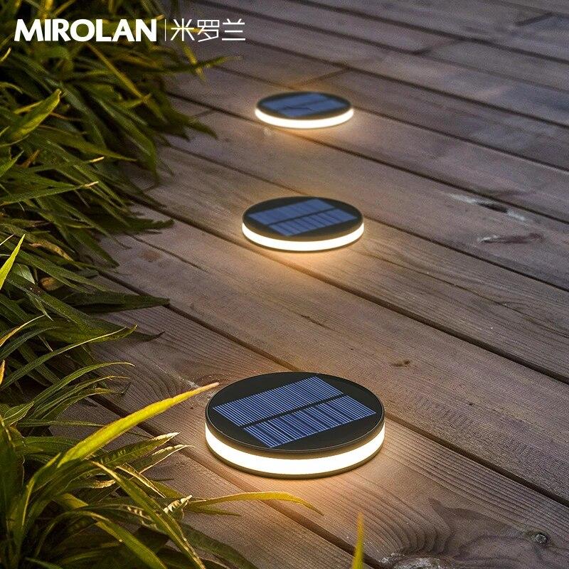 led under ground light solar stair light step low voltage landscape driveway lighting lampara de pie sidewalk lighting ec50dm