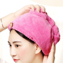 Dry Hair Towel Cap Super Absorbent Microfiber Soft Quick Turban Bath Shower Head JA55