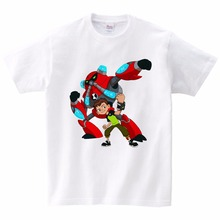 2019 Summer Tops Ben 10 Costumes Boys T Shirt Short Sleeves T-shirts Sportwear Outfits Cartoon Kids 3T-9T