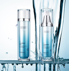 Hyaluronzuur hydraterende water lotion combinatie hydraterende olie controle huidverzorging cosmetica