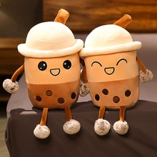 Toys Cushion Pillow Plush-Toy Soft-Doll Food-Milk-Tea Stuffed Girls Room-Decoration Bubble-Tea