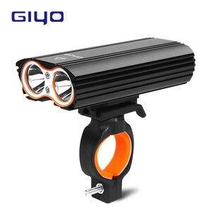 Giyo luz da bicicleta frente luz da bicicleta 2400lm farol t6 leds ciclismo lanterna para mountain bike ou bicicleta de estrada