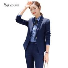 Women Business Office Lady Trousers Suit Set Autumn Winter P