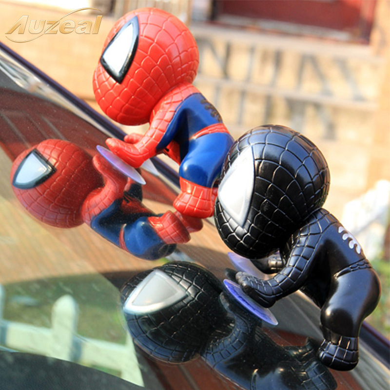 12cm Big Spider Man Toy Climbing Spiderman Model Window Sucker For Spider-Man Doll Car Home Interior Decoration Toys