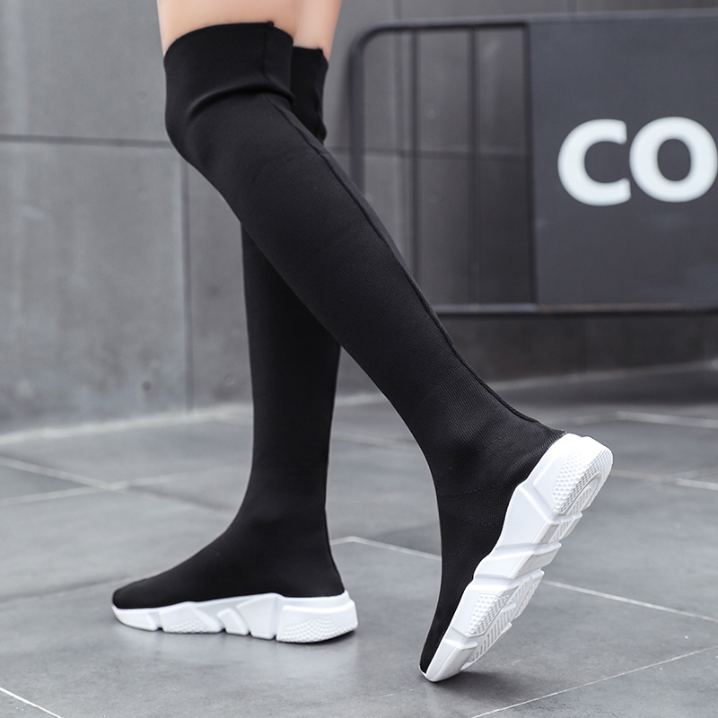 Woman Boots Long Tube Socks Shoes 2020 New Female Fashion Flat Shoes for Women Basket Winter Boots Female Shoes Women Sneakers