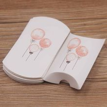 New arrival 10pcs Dreamcatcher jewelry package pillow box paper DIy Thank you gifts box Flower design candy pillow package box(China)