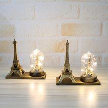 Eiffel Tower Statue Luminous Interior Decoration Crafts Ornaments Desktop Microcosm Souvenir Gift