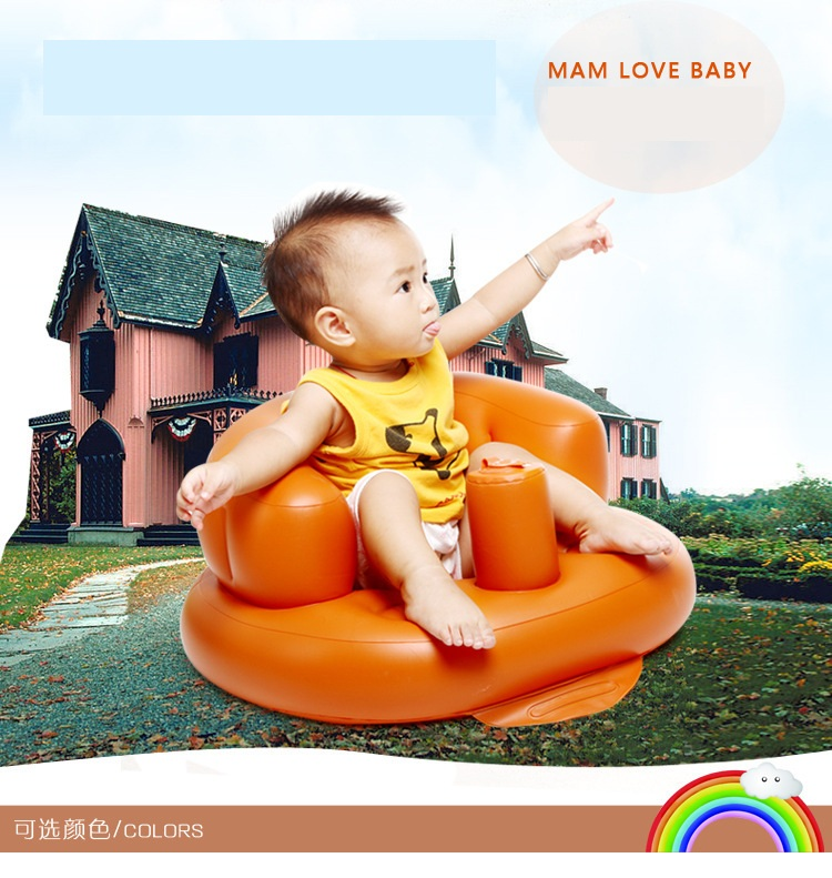 Direct Aeration Baby Sofa Bench Multifunctional Children's Dining Chair Babies Learn To Sit Inflatable Stool