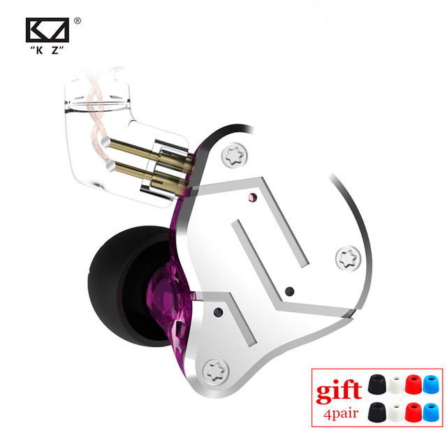 KZ ZSN 1BA 1DD Heavy Bass Commutative Cable Earphone HIFI Quad Core Controlled Music Movement ZST AS10 ZS10 ZSN PRO BA10 ES4 V80