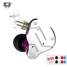 Kz zsn 1BA 1DD重低音可換ケーブルイヤホンハイファイクアッドコア制御音楽ムーブメントzst AS10 ZS10 zsnプロBA10 ES4 V80