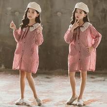 2020 New Teenager Girls Summer Spring School Dress Children Girl Fashion Cotton Casual Baby
