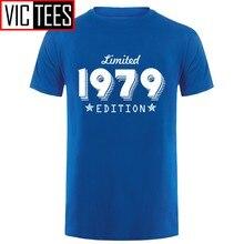 T-shirt col rond manches courtes pour hommes, édition limitée, tendance, anniversaire, 40 ans, 1979