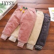 JXYSY/штаны для маленьких девочек; коллекция года; сезон осень-зима; Новые плотные теплые детские брюки для девочек; леггинсы; штаны для малышей