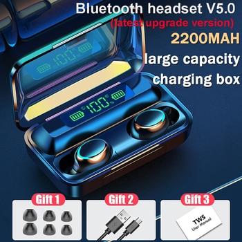 Wireless bluetooth 5.0 Earphone TWS 2200mAh Toucn control Waterproof Sports Headphone for Samsung s7 s8 Xiaomi Support HD call