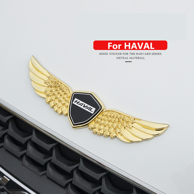 cheapest 3D metal sign car hood angel emblem sticker For HAVAL H1 H2 H6 H7 H9 F7for HAVAL Car hood angel emblem sticker
