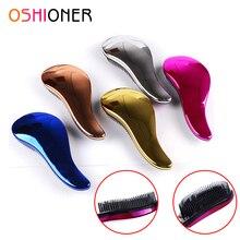 1 pçs escova de cabelo anti estático pente ferramentas de estilo electrolate desembaraçar pentes de massagem para salão de beleza estilo escova de cabelo alisador