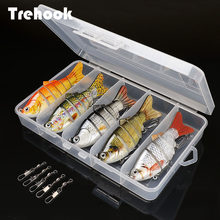 Trehook 5 Pcs Sinking Wobbler Set Crankbaits Kit di Pesca Esche Artificiali Esca Dura Lure Swimbait Pike Wobblers per Bass Fishing Tackle(China)