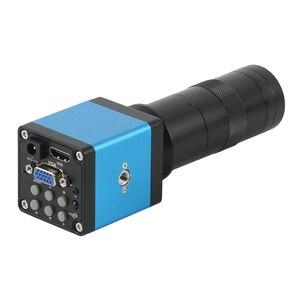 Цифровой видеомикроскоп 720P 14MP HDMI VGA, промышленная камера-микроскоп + объектив 100X 180x 300x Для ремонта пайки печатных плат телефона