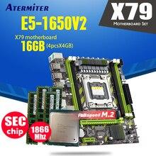 Atermiter X79 X79G płyta główna LGA2011 mini ATX combo E5 1650 V2 SR1AQ CPU 4 sztuk x 4GB = 16GB DDR3 RAM 1866Mhz PC3 14900R