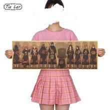 Gravata ler japonês anime poster quarto casa decoraçãopintura retro cartaz papel kraft parede stickers70.5x23cm