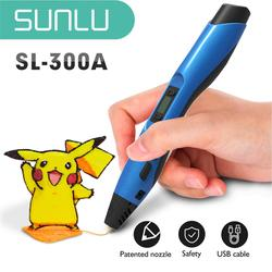 SUNLU SL-300A 3D Scribble Pen With High Quality For kids and parents Drawing Picture safe 3D  Printing Pen Christmas Gift