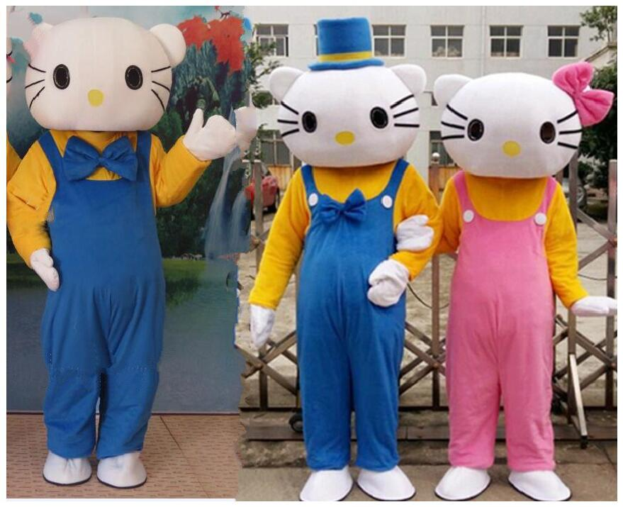 Anime Hello Kitty Cartoon Cute Fancy Dress Mascot Costume Full Set For Adult Role Play Suit