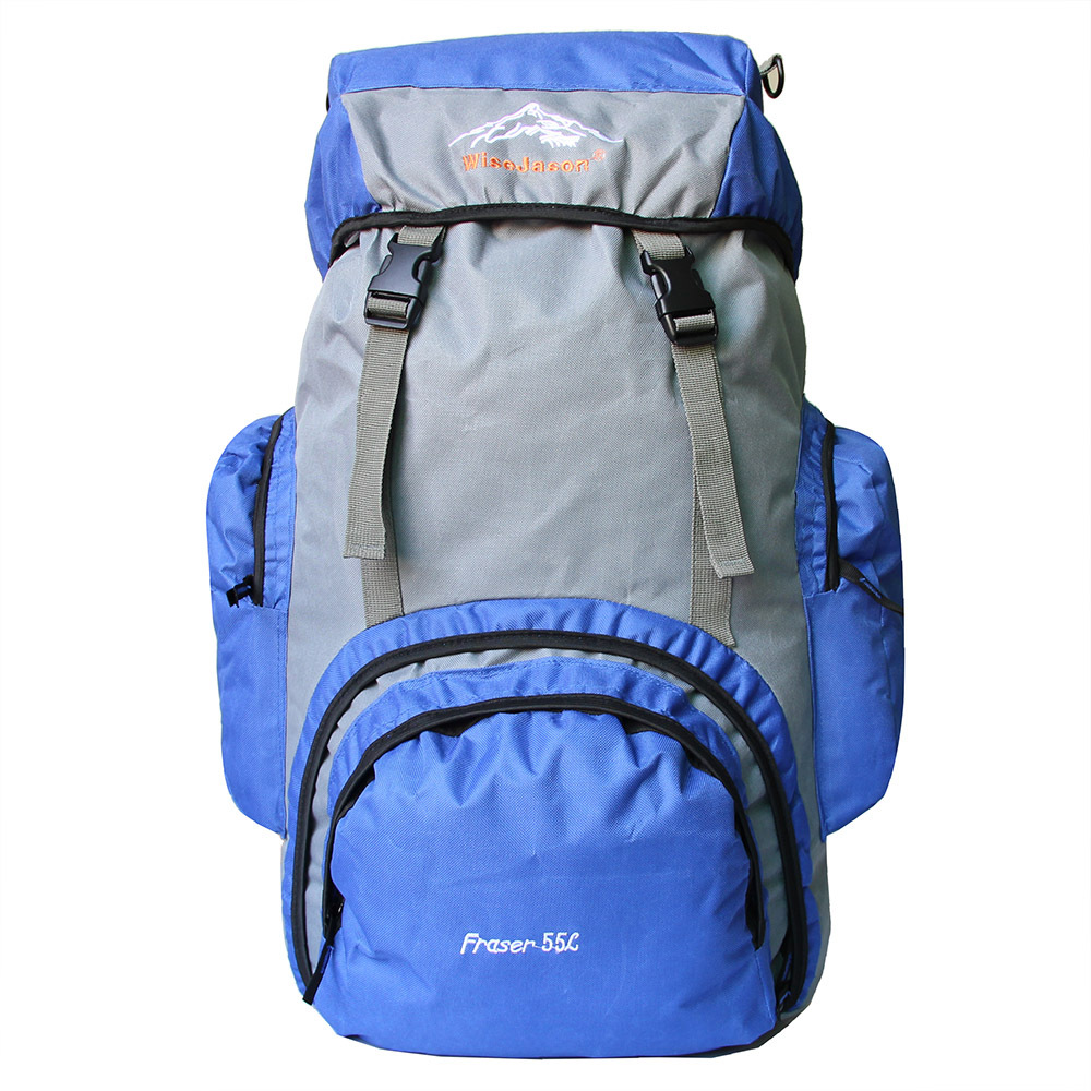 Customizable Outdoor Mountaineering Bag 55L Casual Sports Backpack Oxford Cloth Large Capacity Travel Backpack
