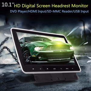 10 Inch 1024*600 Car Headrest Monitor DVD Player USB/SD/HDMI/FM/Game TFT LCD Screen Touchs Button Support Headphone(China)