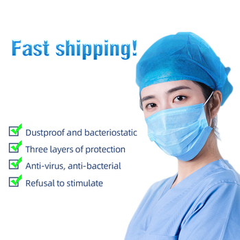 100 pcs face mask Disposable face masks 3-ply Safely mask pm2.5 Apply to dust adult filter masque mouth