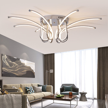 Modern LED Chandelier For Living Room Bedroom Dining Room Luminaires Chrome/Gold Finished Chandelier Fixtures AC110V 220V oval design modern crystal chandelier living lighting ac110v 220v gold lustre dinning room light fixtures