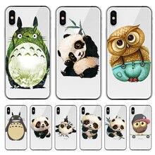 Totoro Panda cartoon For iPhone X XR XS Max 5 5S SE 6 6S 7 8 11 Pro Plus phone Case Cover Funda Coque Etui capinha CAPA SHELL