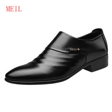 Size38-48 Mens Dress Loafers Shoes Wedding Mens Italian Leather Shoes Men Formal Black Shoes Men Casual Office Bussiness Flats(China)