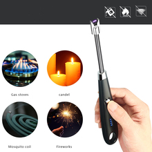 Stove-Lighter Gadget Candle Electric Arc Rechargeable Kitchen Windproof Gas for BBQ Outdoors