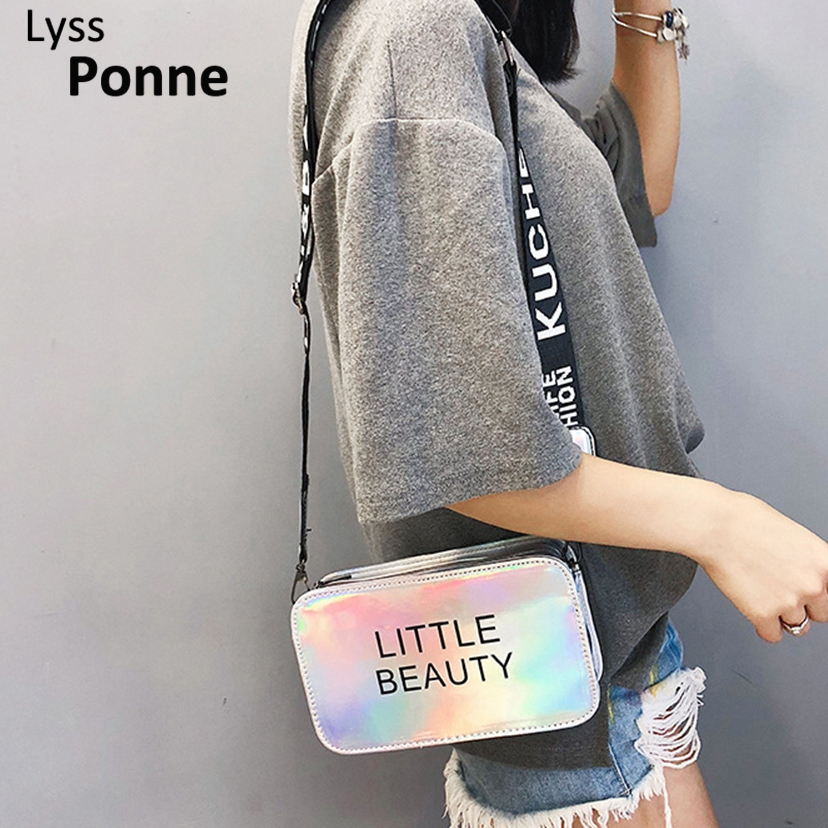 Womens Laser Handbags Purses Evening Clutch Bags Small Crossbody Bag For Women Chain Mini Sweet Candy Color Shoulder Bag