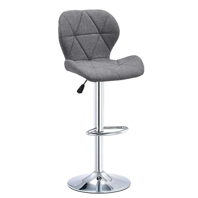 Simple Modern High Chair Lift Swivel Chair Bar Chair Back Manicure Chair High Stool Household Beauty Round Stool