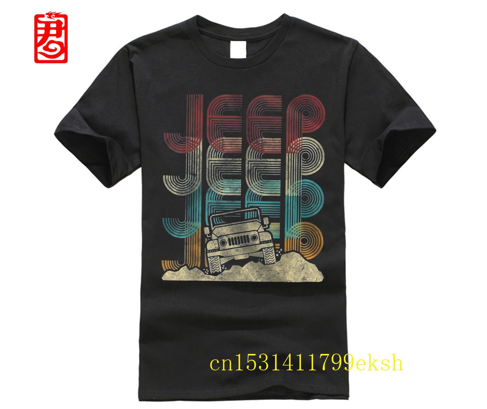 Vintage Jeeps Retro 70s Sunset Off Road Men Women Kids Gift T-Shirt