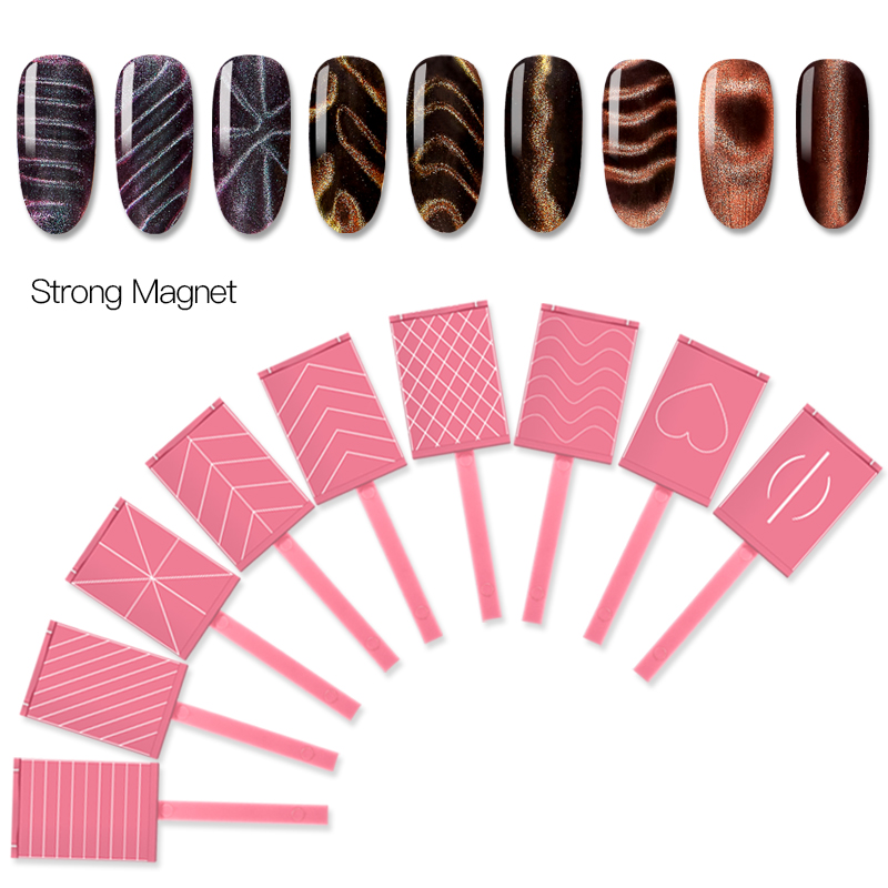 Mtssii Strong Effect Magnetic Nail Stick 3D Cat Eye Gel Polish Magnetic Nail Art Stick Gel Nail Polish Magnet Rod Magnetic Tool