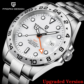 2021 PAGANI Design New Men's Automatic Mechanical Watches GMT Watch 42mm Sapphire Stainless Steel Waterproof Watch Reloj Hombre 1