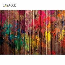 Laeacco деревянная доска граффити фотография Декор ребенок портрет