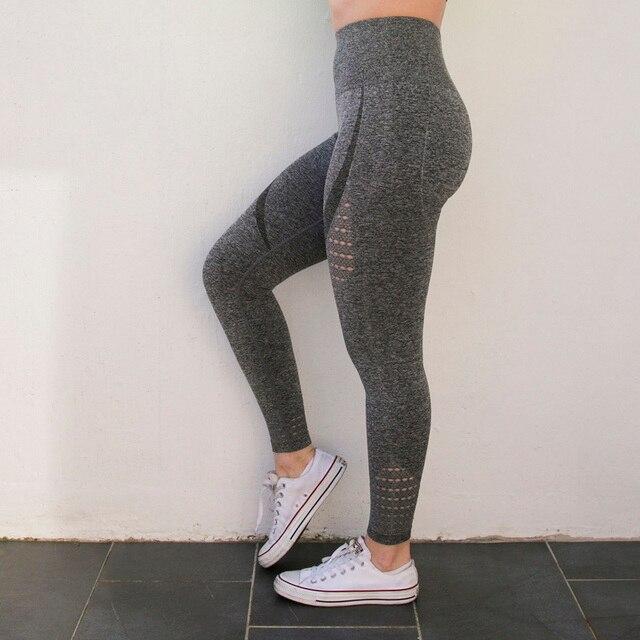 Leggings pour femme sport gris tendance confort