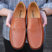 Boat Shoes Men Loafers Genuine-Leather Casual Mens Brand