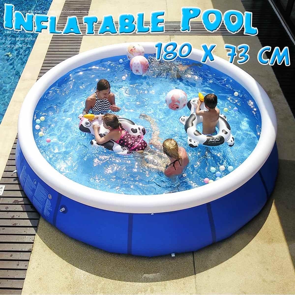 180x73cm piscine gonflable ronde enfants adultes baignoire jeu d'eau bébé usage domestique pataugeoire carré gonflable