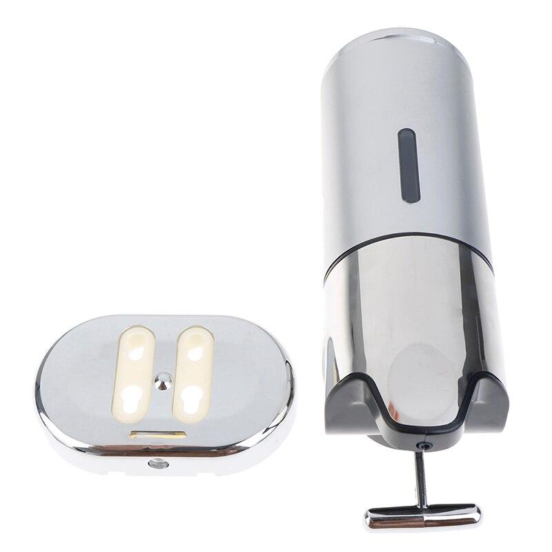 Настенный установленный 500 мл пластик шампунь душ гель дозаторы жидкость мыло дозатор руки дезинфицирующее средство дом кухня ванная аксессуары